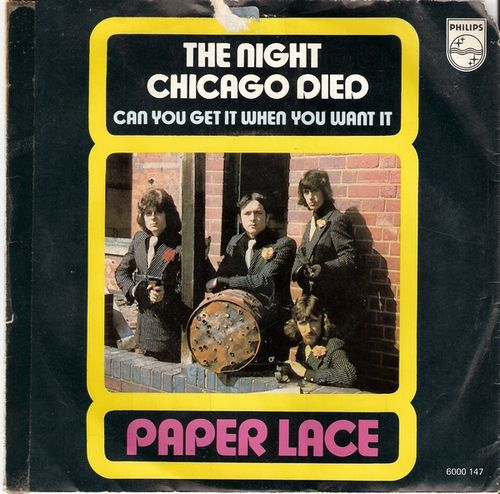 Paper Lace - The Night Chicago Died (Portada 45)
