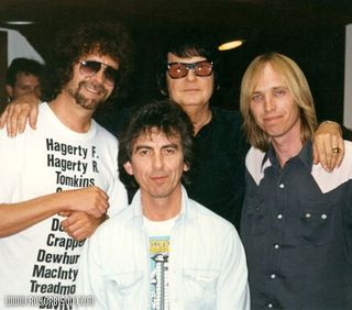 Jeff Lynne, Roy Orbison, Tom Petty and George Harrison