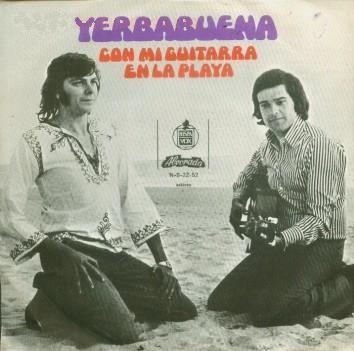 Yerbabuena - Con mi guitarra en la playa (Portada)